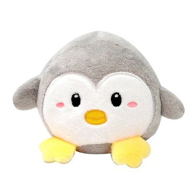 Peluche Pingüino Con Sonido Gris 8.5x13x7.5 cm