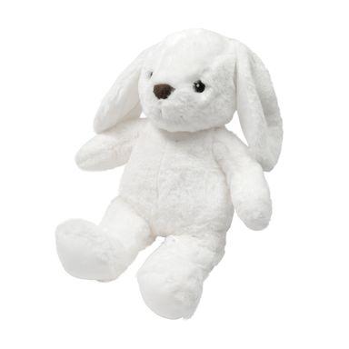 Peluche De Conejo Orejón Sentado, Blanco 28 cm