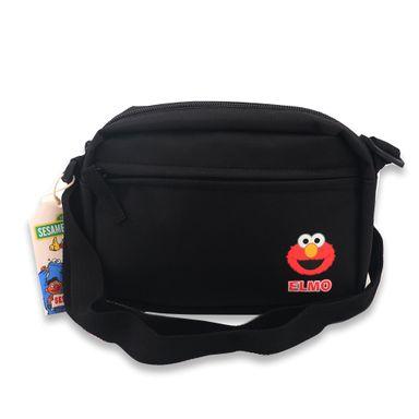 Bolsa Crossbody Sesame Street Elmo Tela Negro 21.8x14.1x5.6 cm Bolsas y Mochilas