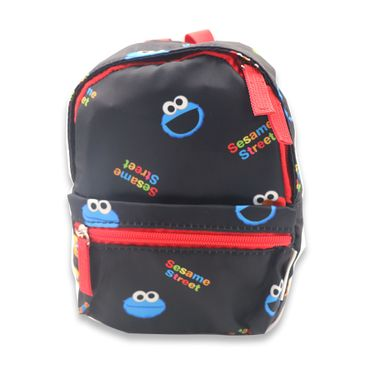 Mochila Escolar Sesame Street Come Galletas Tela Plástica Negro 20.9x19.5x3.9 cm Bolsas y Mochilas