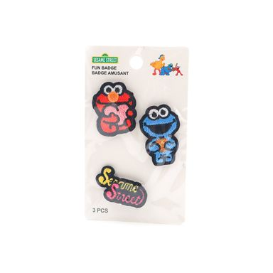 Paquete De Prendedores Sesame Street  Elmo Monstruo y Come Galletas  5 piezas