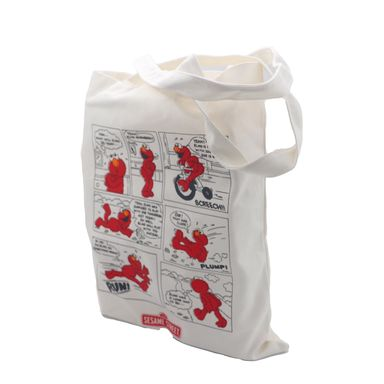 Bolsa Para Compras Sesame Street Elmo Plástico Blanco 39.9X33X2.8cm