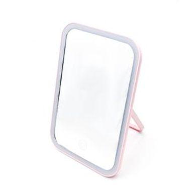 Espejo Con Luz Led Cuadrado MOD: CA72302 Rosa