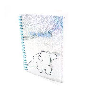 Libreta Con Espiral We Bare Bears Polar B6 Acabado Brillante Azul