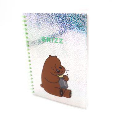 Libreta Con Espiral We Bare Bears Pardo B6 Acabado Brillante Verde