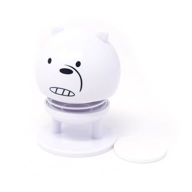 Figura We Bare Bears Polar Para Coche Plástico Blanco