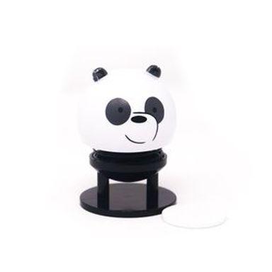 Figura We Bare Bears Panda Para Coche Plástico Blanco