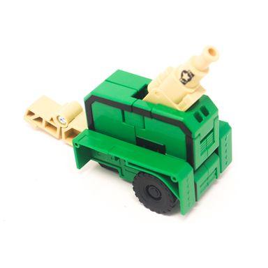 Juguete Vehículo Transformable MOD: Número 5 Cañon Plástico Verde