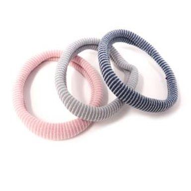 Paquete De Ligas Para Cabello Diseño De Rayas Multicolor 3 Piezas