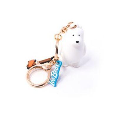 Llavero We Bare Bears Polar Tridimensional Blanco