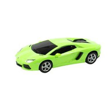 Vehículo A Escala Modelo Lamborghini Aventador Verde 18x9 cm