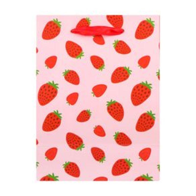 Bolsa-Para-Regalo-Con-Estampado-Fruit-Series-Fresa-Papel-Rosa-14X19X0-01cm-2-6223