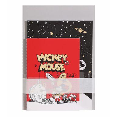 Paquete De Libretas Disney Mickey Mouse Encuadernado A Puntadas Diferentes Tamaños 20X10cm 25 Hojas 4 Libretas