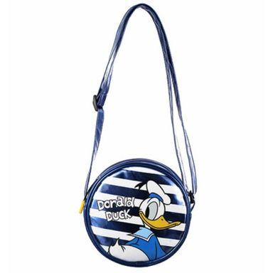 Bolsa  Crossbody Redonda Disney Pato Donald Azul 6X18X18cm