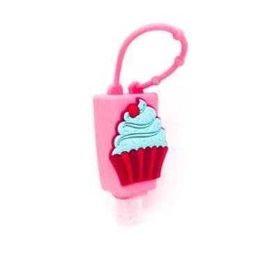 Gel Desinfectante Cupcake Portátil Con Estuche Con Asa Flores