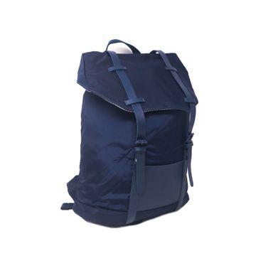 Mochila Impermeable Con Cintillos Nylon Azul 27X11X29cm