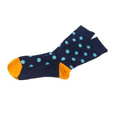 Calcetín Para Hombre Con Estampado De Bolitas Azul 20X8X1cm