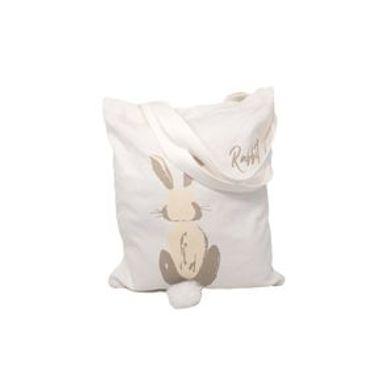 Bolsa Conejo Para Compras Con Estampado Y Colita Blanco 34X1X39cm
