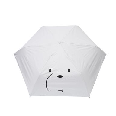 Paraguas  Con Rostro Del Personaje We Bare Bears Polar Blanco 55 cm Diámetro