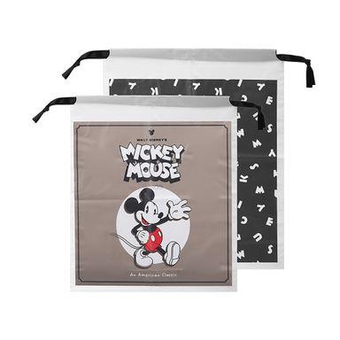 Bolsa De Regalo Con Cordón Disney Mickey Mouse Negro 18.1X13.9X1.9CM 2 Piezas
