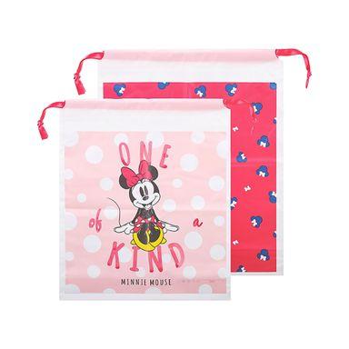 Bolsa De Regalo Con Cordón Disney Minnie Mouse Rosa 18.4X14X2.6CM 2 Piezas