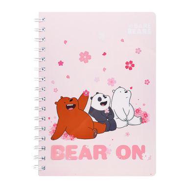 Libreta Con Espiral We Bare Bears  Rayas Rosa 60 Hojas