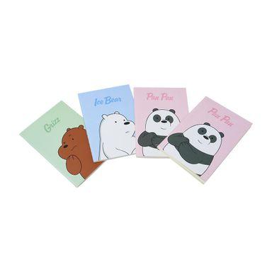 Paquete De Libretas Pasta Dura We Bare Bears  24 Hojas, 4 Piezas