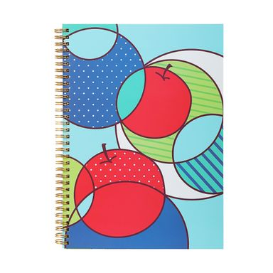 Libreta Con Espiral A6 Diseño De Frutas 64 Hojas