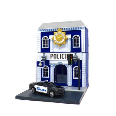 Set De Juguete Estación De Policia Y Carro
