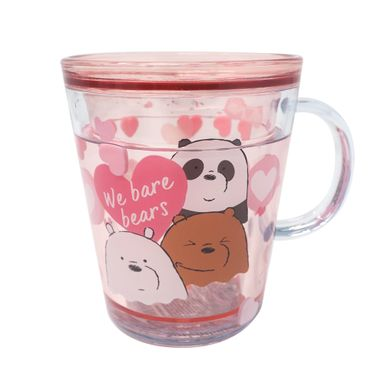 Taza De Doble Capa Con Agua Encapsulada We Bare Bears Rosa 260 ml