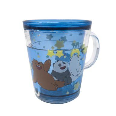 Taza De Doble Capa Con Agua Encapsulada We Bare Bears Azul 260 ml
