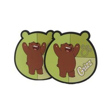 Set De Portavasos We Bare Bears Pardo PVC Verde 2 Piezas