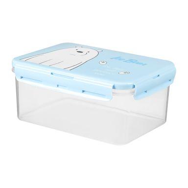 Contenedor Para Alimentos Con Tapa We Bare Bears Polar Azul 2250 ml