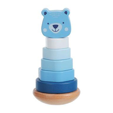 Juguete Infantil Apilable Oso Madera Azul