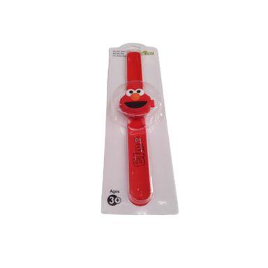 Reloj Pop Tipo Slap Giratorio Para Niño Sesame Street Elmo Rojo