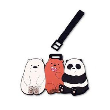 Etiqueta Para Maleta Pardo Panda Polar  Sentados We Bare Bears