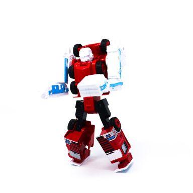 Juguete De Vehículo Transformable Grúa Plástico Rojo