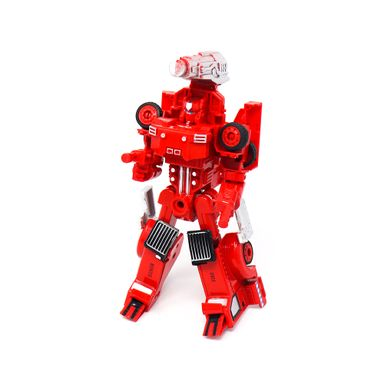 Juguete De Vehículo Transformable Camión Mezclador Plástico Rojo