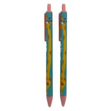 Set De Plumas De Tinta Azul Con Punta 0.38mm Jirafa 2 Piezas