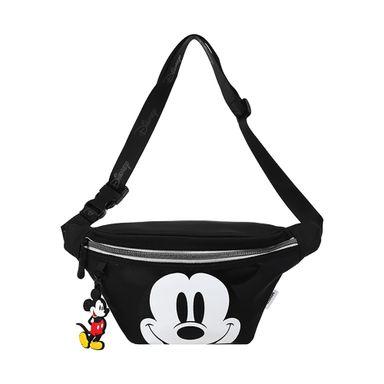 Cangurera Deportiva Disney Mickey Mouse Negro 24X8X16CM