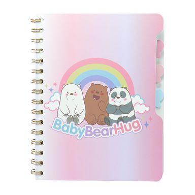 Libreta Rayada Con Espiral A5 Panda Pardo Y Polar We Bare Bears Rosa