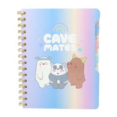 Libreta Rayada Con Espiral A5 Panda Pardo Y Polar We Bare Bears Azul