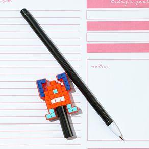 Pluma-0-7MM-Tinta-Negra-Robot-Naranja-2-7668
