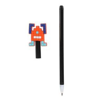 Pluma 0.7MM Tinta Negra Robot Naranja