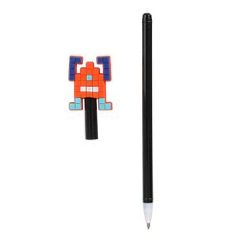 Pluma-0-7MM-Tinta-Negra-Robot-Naranja-1-7668