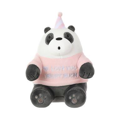 Peluche We Bare Bears Panda Con Gorro De Cumpleaños 21.2X13.1X12.1CM