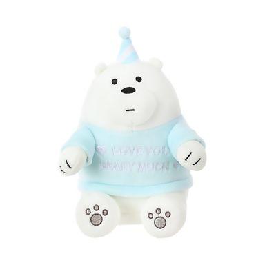 Peluche We Bare Bears Polar Con Gorro De Cumpleaños 21.9X12.3X13.7CM