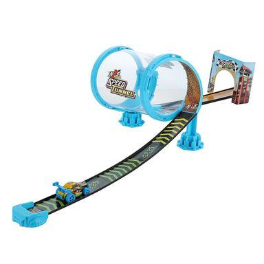 Autopista De Juguete Con Túnel Y Coche Plástico Azul