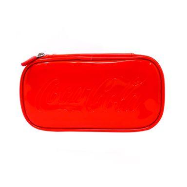Cosmetiquera Capa Doble Coca Cola Roja 20.7X11.9X7.5CM