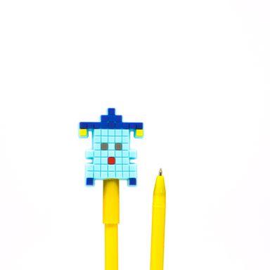 Pluma .7MM Tinta Negra Robot Azul Cielo